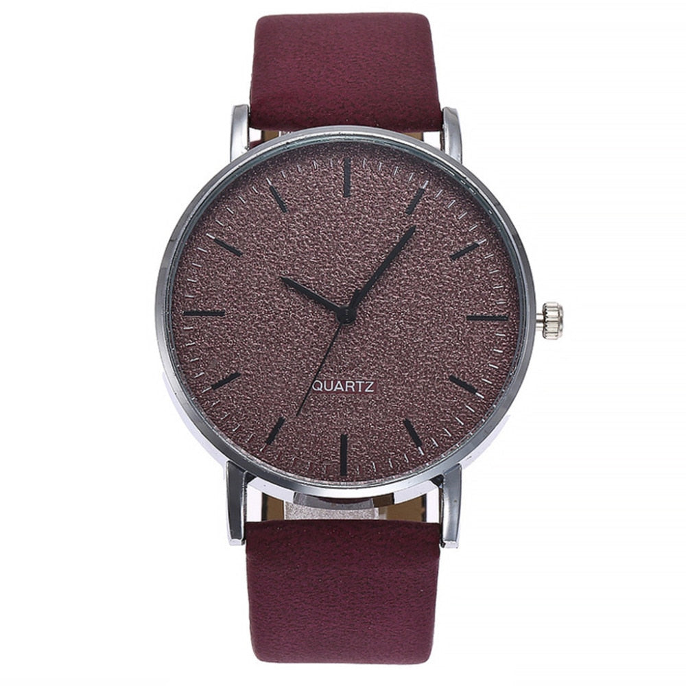 Women's watches brand luxury fashion ladies watch women leather 7 colors Grind Clock dial Clock Wristwatch Relogio MasculinoA40