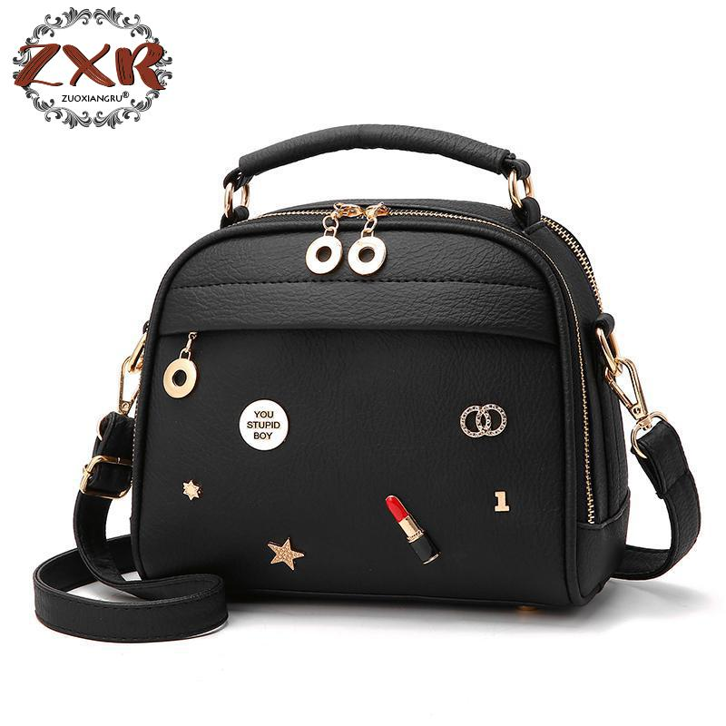 Zuoxiangru New Women Cute Sequined Appliques Totes Handbag Hot Sale Ladies Purse Flap Casual Messenger Crossbody Shoulder Bags