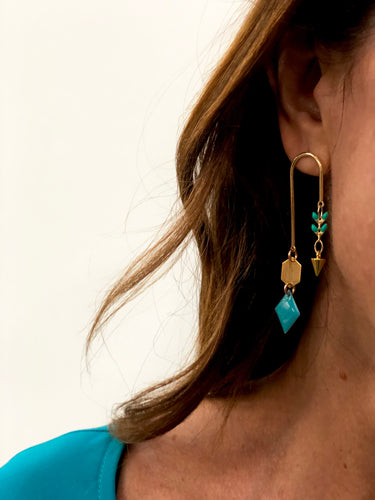 St Barth Mono Hook Earrings