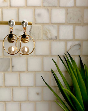 Tulum Earrings - Pearls-Shells-Stars - COPPIA/PAIR