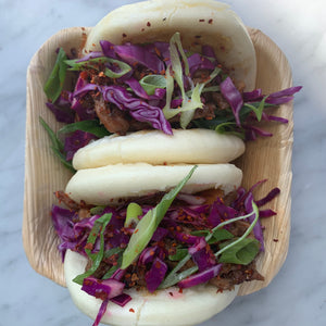 Bao med pulled pork