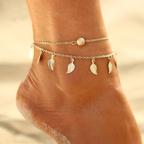 LEAF ANKLE CHAIN