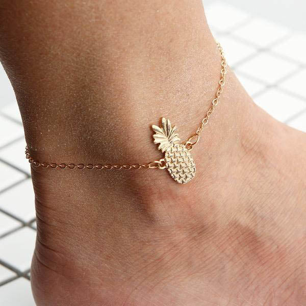 PINEAPPLE ANKLE CHAIN