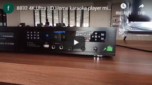8832 4K Ultra HD Home karaoke player mixer KTV system(User Show)