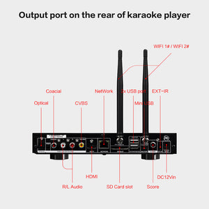 KHP-8816 Portable Android Karaoke Machine | HDD/Cloud Karaoke Player | Karaoke System