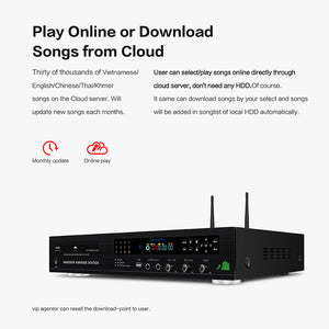 KHP-8832 All-in-one Android HDD/DVD/Cloud Karaoke Machine | Karaoke Player