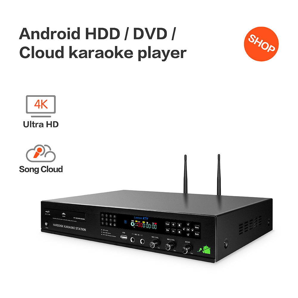 LEMONKTV Karaoke Machine | Karaoke Player | All-in-one Android HDD/DVD/Cloud KHP-8832