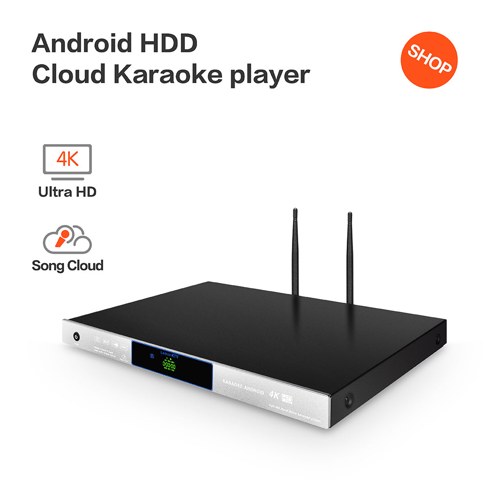 LEMONKTV Karaoke Machine | Karaoke Player | Android HDD/Cloud KHP-8856