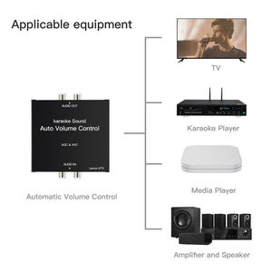 LEMONKTV Auto Volume Control Device | Auto Gain Control Device for Karaoke Machine, Media Player