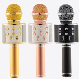 Karaoke Microphone | Bluetooth Wireless Condenser Magic | Mobile Phone Player | MIC Speaker |  Record Music