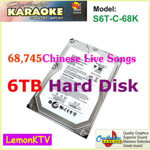 68,745 Chinese live Songs include 6TB hard disk in original quality for lemonKTV