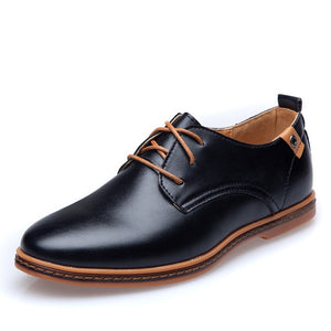 Leather Lace-Up Dress Shoes - Blunt Script