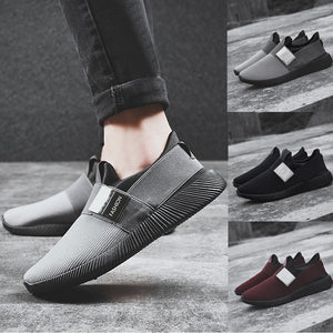 Mesh Round Toe Ventilation Shoes - Blunt Script