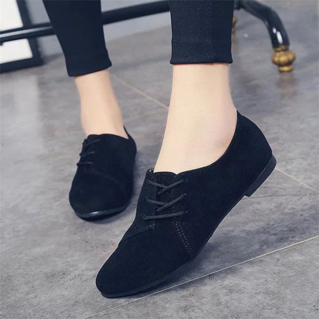 Lace Up Shoes For Women - Blunt Script