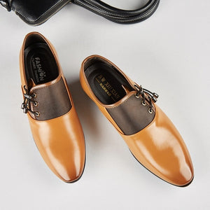 Leather Lined Perforated Oxford Shoes - Blunt Script