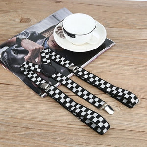 Adjustable Elasticated Adult Suspender - Blunt Script