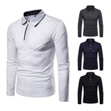 Casual Button Long Sleeve Polo Shirt - Blunt Script