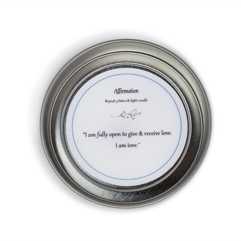 patty lou wellness, crystal candle, love affirmation