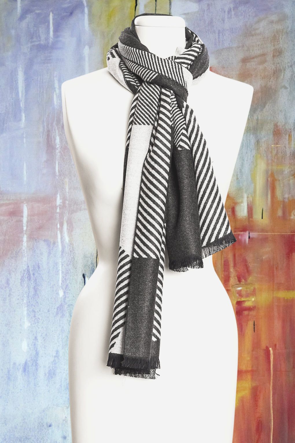 Abstract Patch Scarf (SE-9569)