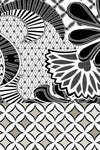 Intricate Flowers with Border (SE-1911_Black)