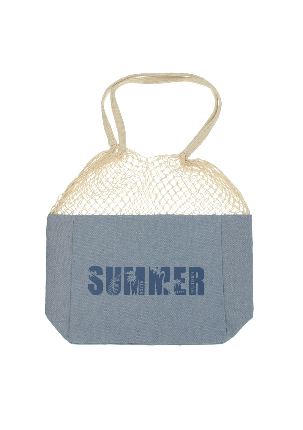 Summer Market Tote Bag(MH-1041-Blue)