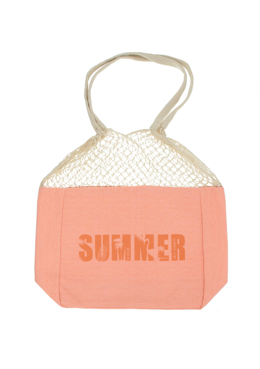 Summer Market Tote Bag(MH-1041_Salmon)