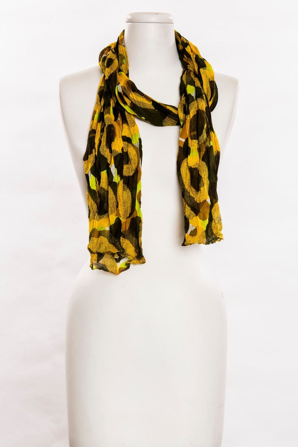 Interlaced Circles Print Scarf (SE-680)