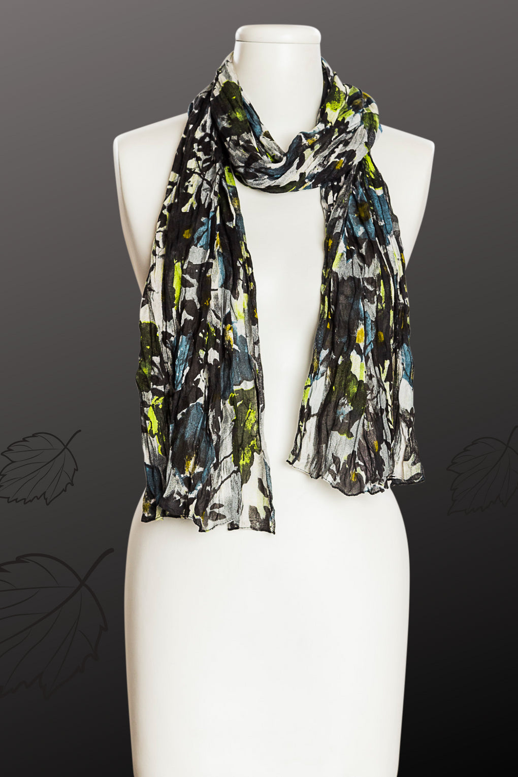 Smudged Flower Look Scarf (SE-9555)