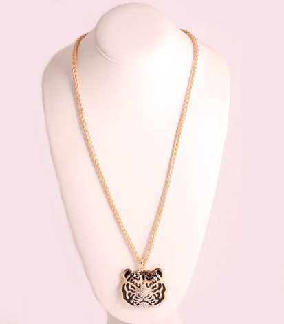Chain with Tiger Pendant Necklace