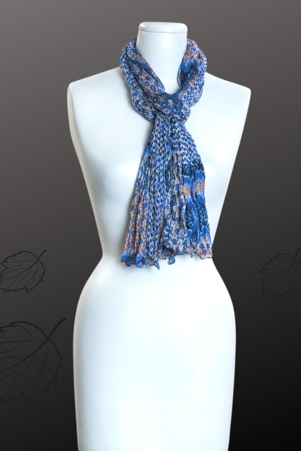 Buildings Print Scarf (SE-9821)