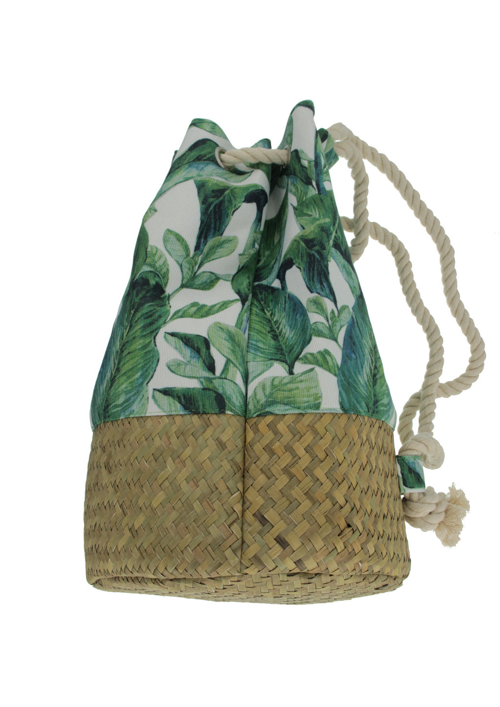 Tropical Print Mix-Media Designer Backpack(MH-1044-Green)