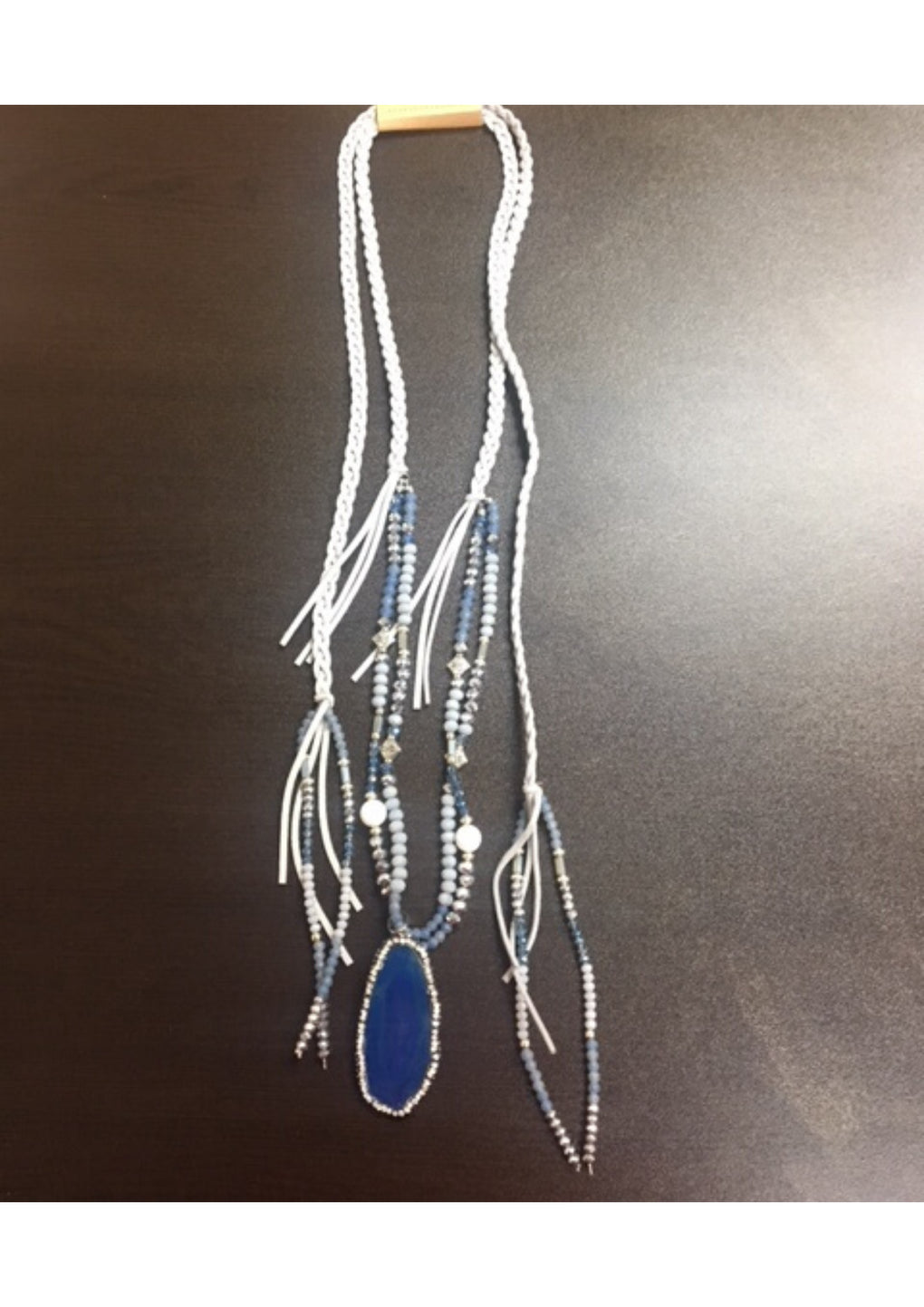 Beaded Tassel With Pendant Necklace