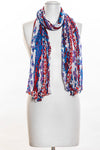 Purple Flowers Scarf (SE-1330)