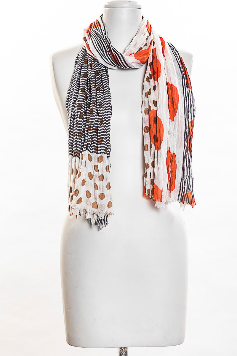 Dots with Stripes Scarf (SE-1356)