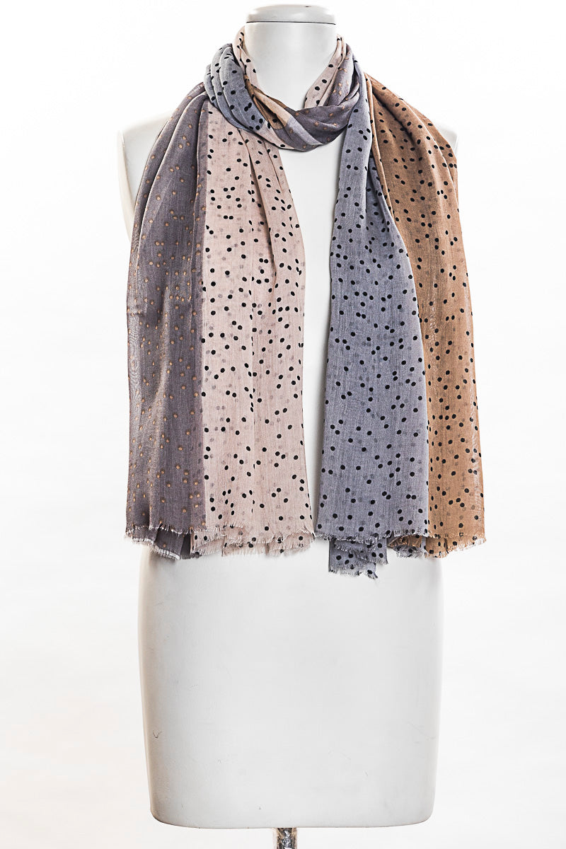 Four Panel Dots Scarf (SE-1384)