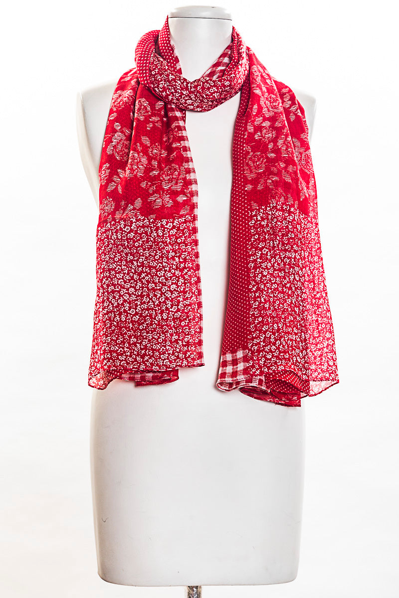 Roses Patch Scarf (SE-1379)