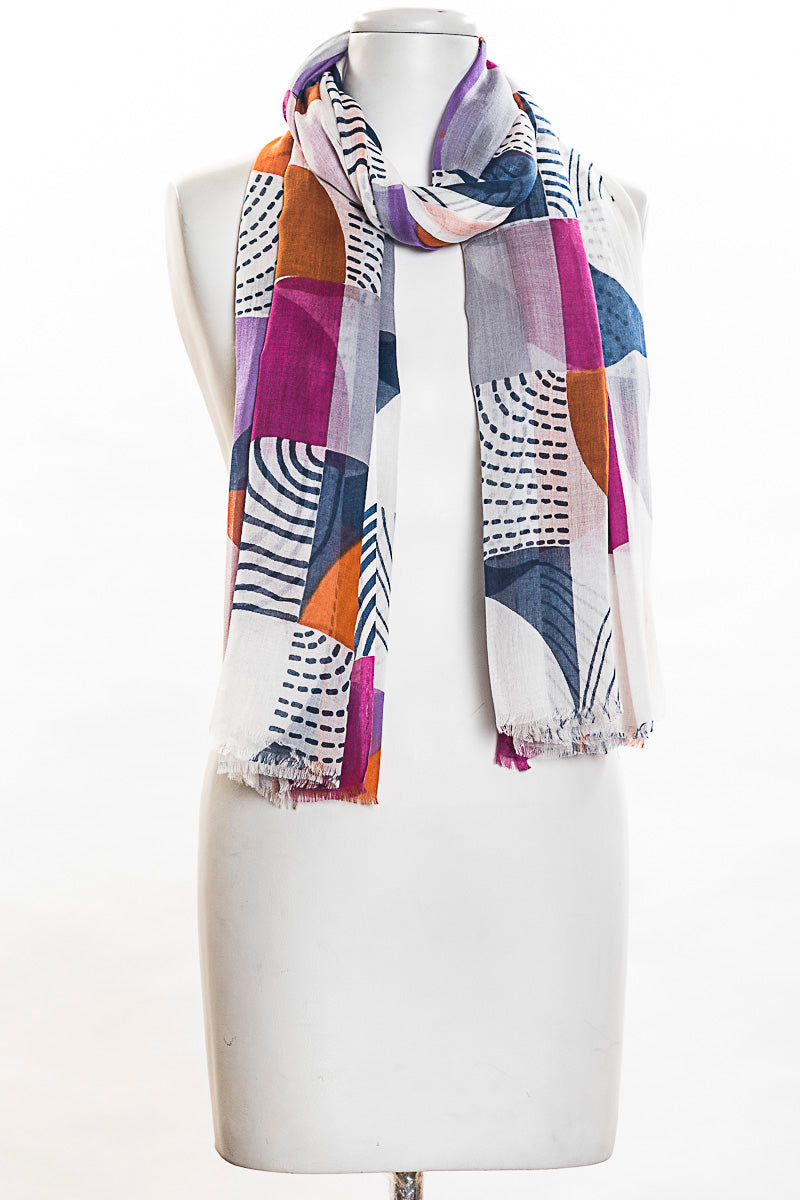Semi Circle Pareo Scarf (SE-1326)