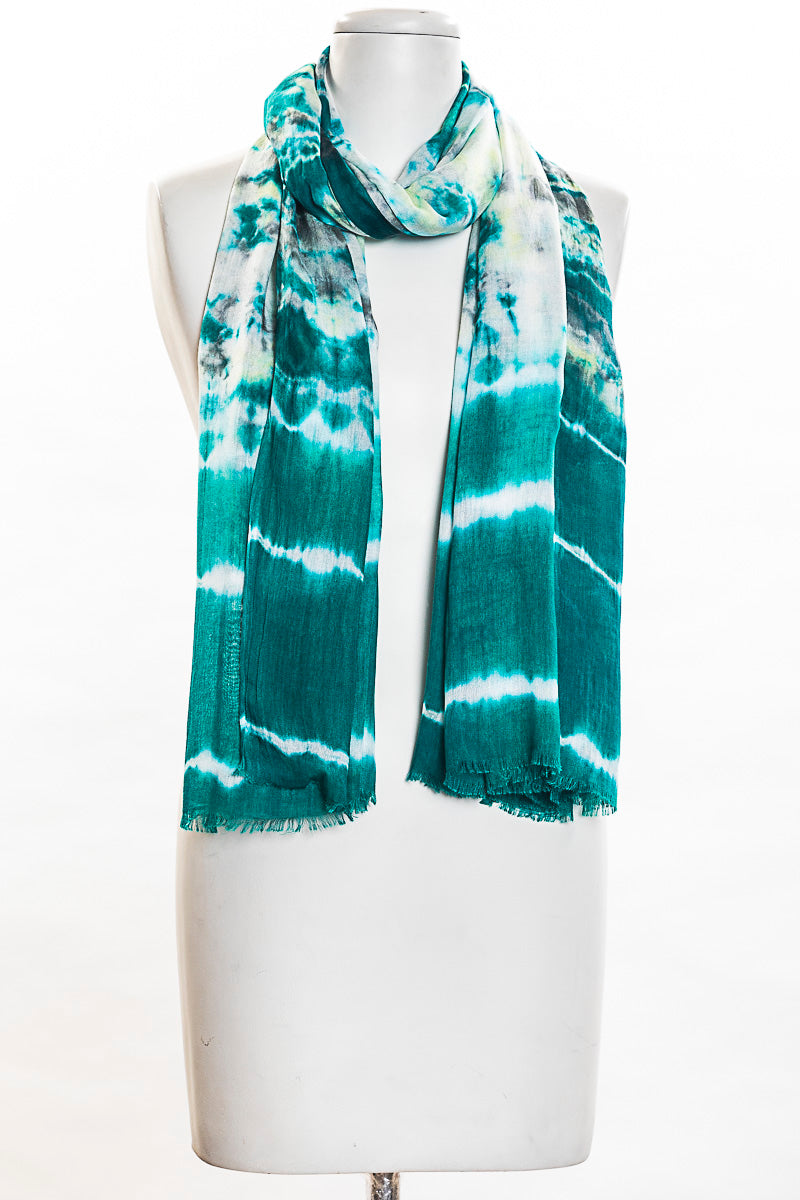 Tie Dye With Border Scarf (SE-1357)