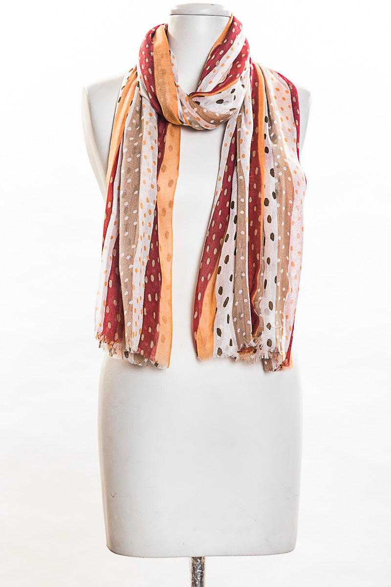 Dots With Panels Scarf (SE-1361)