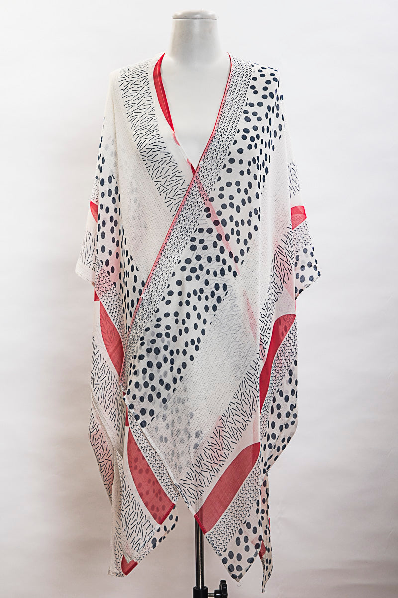 Pop Of Color Kimono (SE-1378)