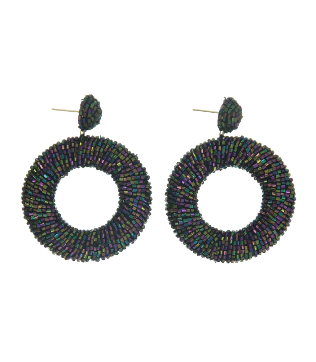 Black Ring Earring