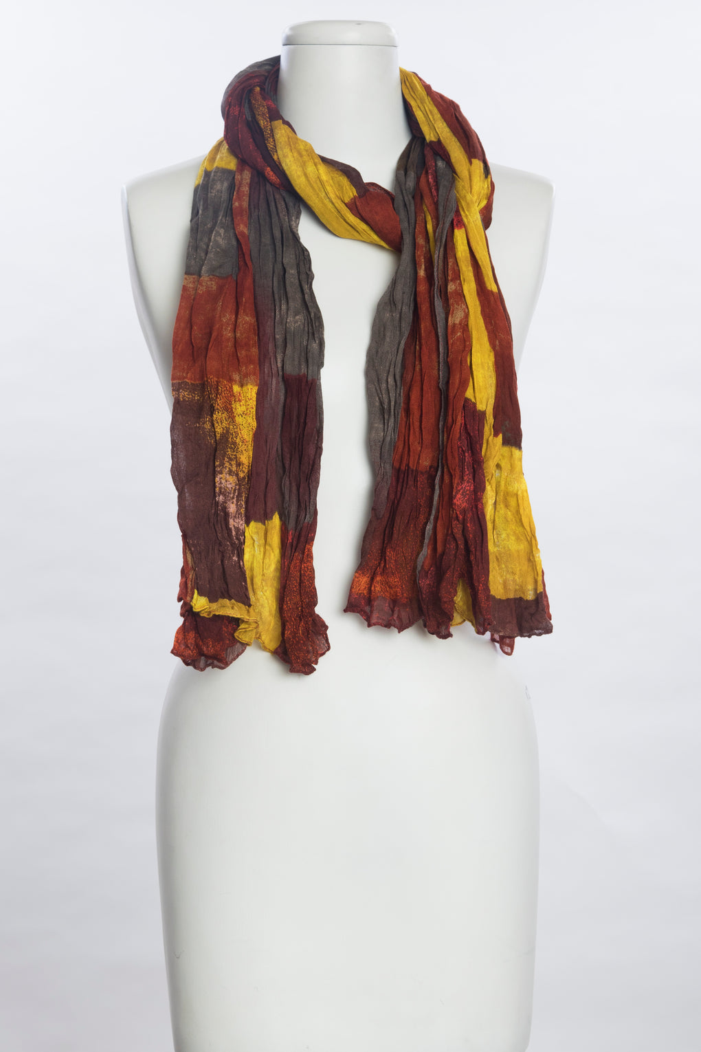 Faded Color Blocks Scarf (SE-1073)