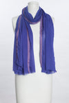 Solid With Tonal Fraying Bands Scarf (SE-1075)