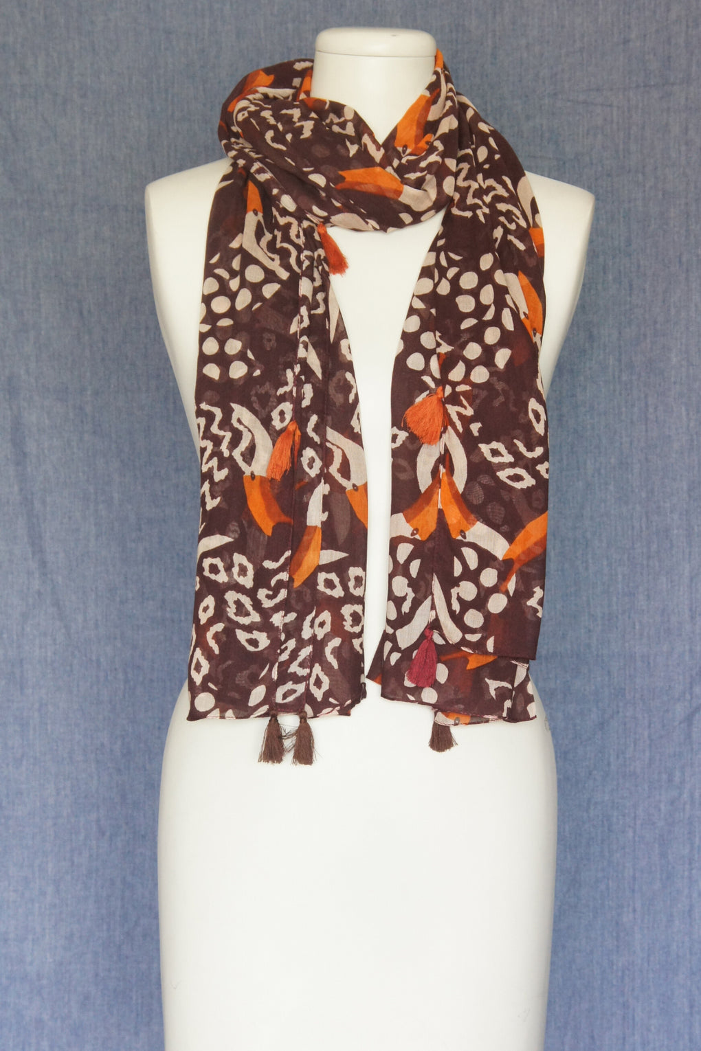 Exotic Abstract Print Scarf (SE-1578)