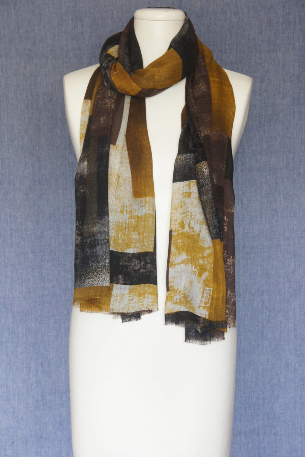 Faded Color Blocks Scarf (SE-1599)