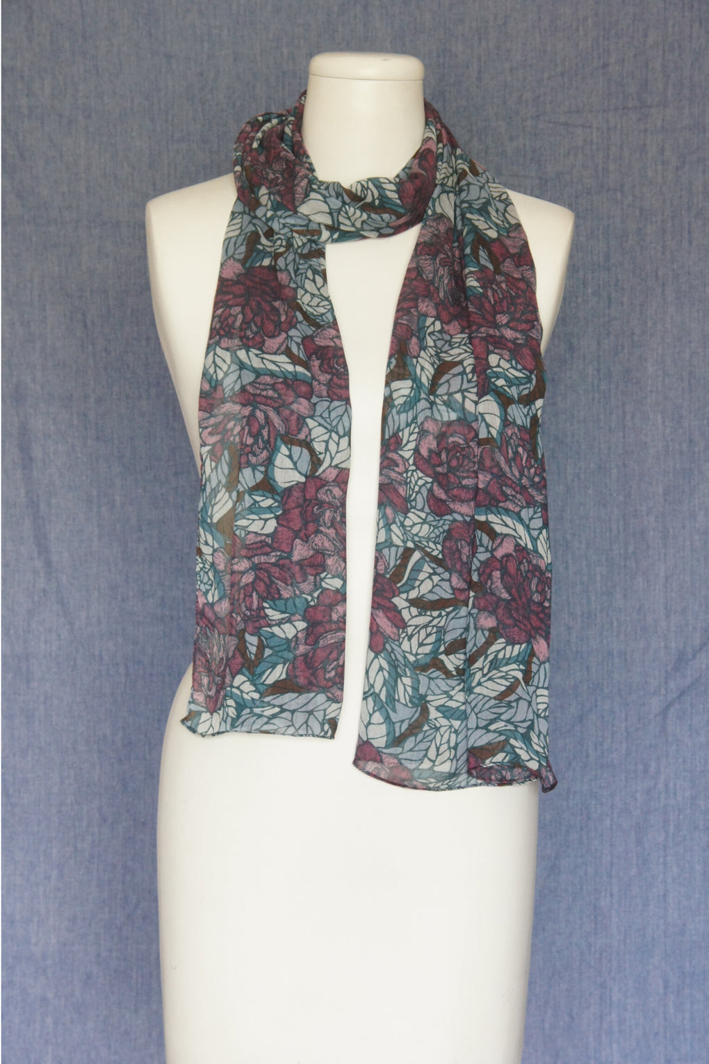 Flowers with Leave Scarf (SE-1609)