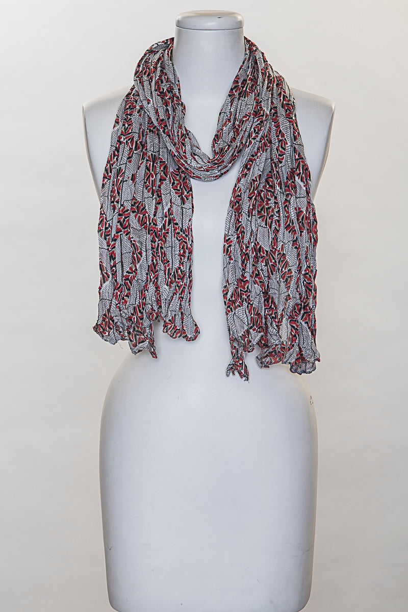Detailed Triangles Scarf (SE-836)