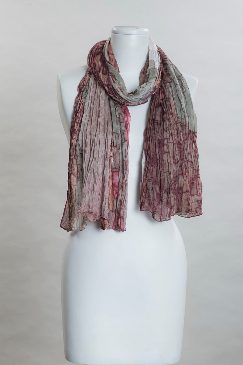 Different Shapes Patch Work Scarf (SE-9851)