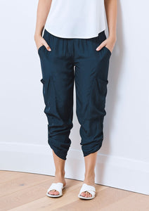 SOFT CARGO PANT - black, navy, white