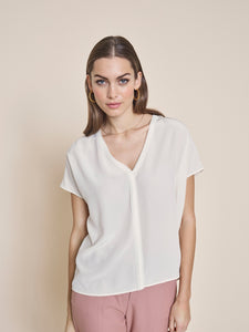 ARIANA SILK BLOUSE - sugar coral